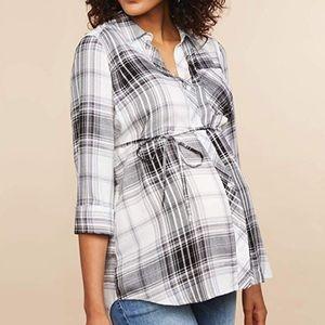 NWOT Motherhood Maternity Button Up Shirt